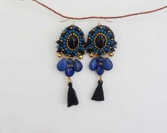 Chandelier Earrings - Fringe Tassel Earrings