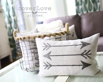 "arrow pillow, mothers day gift, farmhouse pillow, throw pillow, rustic pillow, christmas gift ""The Arrows"""
