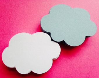 "Cloud Die Cuts (2.5"" wide), Cloud Wish Tags, Baby Shower Cloud Decor"