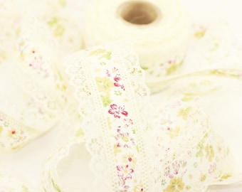 40 mm Cream Lace, lace ribbon, lace, ribbon, wedding ribbon, French ribbon, baby shower, Lace Trim Ribbon, French lace, printed lace, DNTB