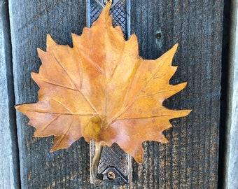Bronze Maple leaf door knocker