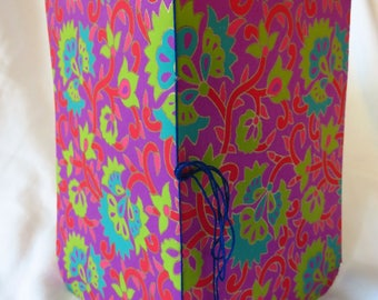 Fuchsia Ornamental - Handstitched pamphlet journal
