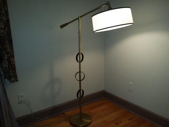 Rare rembrandt floor lamp swiveling arm pivoting fiberglass aloadofball Gallery