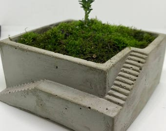 Medium Stairs Concrete Planter