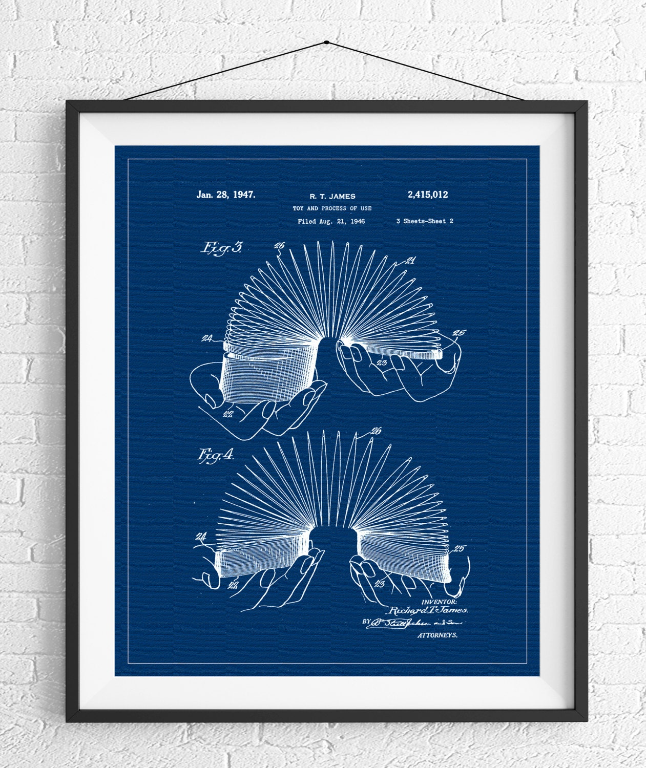 Slinky patent print game room art toy art blueprint vintage slinky patent print game room art toy art blueprint vintage patent poster geek gifts nerd gifts office art kids room boys room malvernweather Image collections