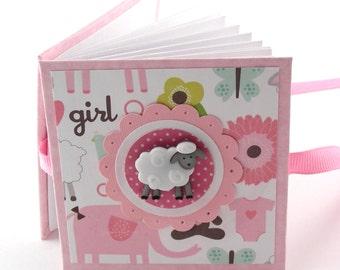 Baa Baa Sweet Sheep II Mini Photo Book, 2x3 wallets - pink, white