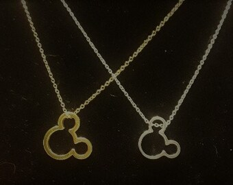 Gold or Silver Mickey Mouse Necklace