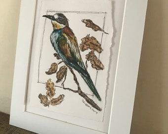 Bee-Eater Watercolour Painting