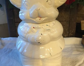 Turnabout Cookie Jar.  1940's / Double sided Boy - Girl Bear