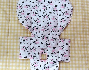 highchair Evenflo padded replacement high chair cover, baby chair accessory, baby and child care furniture pad, kids feeding chair, cows