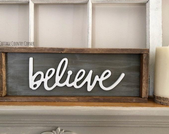 Believe sign - farmhouse decor - Wall Decor - farmhouse kitchen - farmhouse kitchen decor - kitchen decor - home decor