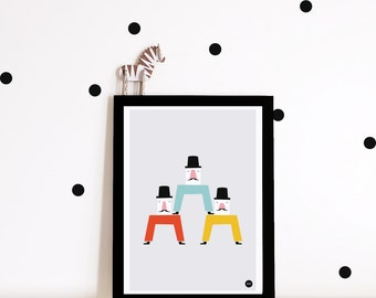 Nursery wall art, nursery decor, nursery print, nursery art, kids room decor, circus, wall art, scandi