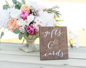 Cards and Gifts and Sign, Cards Sign, Gift Table Sign, Wedding Gift Table Sign,  gifts cards sign, wedding cards sign, wood cards gifts sign