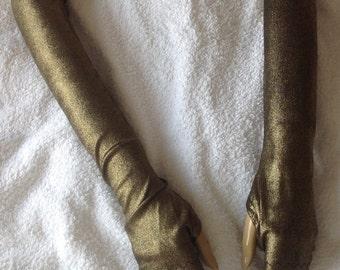 Fingerless Gloves Metallic Gold Steampunk Belly Dancing
