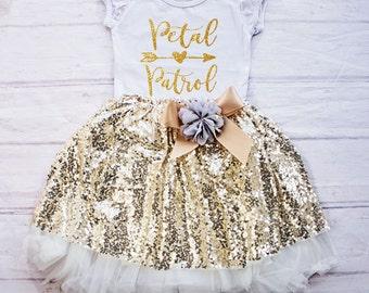 Petal Patrol Shirt, Flower Girl Rehearsal Outfit, Flower Girl Shirt, Mini Bridesmaid, Bridal Crew Shirt, Flower Girl Clothes
