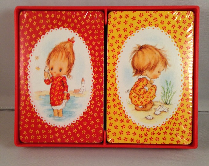 "Playing Cards: Hallmark  ""Betsy Clark - Girls on the Beach"""