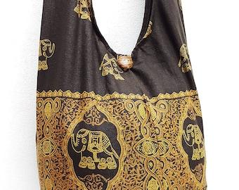 Women bag Handbags Cotton bag Elephant bag Hippie bag Hobo bag Boho bag Shoulder bag Sling bag Messenger bag Tote bag Crossbody Purse Brown