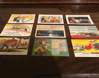 9 Vintage Postcards