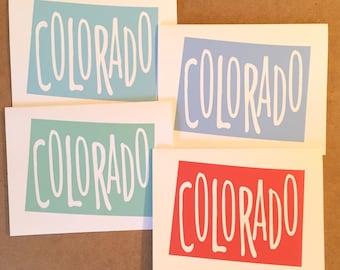 Colorado Card, Colorado Greeting Card, Colorado Gift, Love from Colorado, Rocky Mountain, Denver, Colorado Home, Colorado Love, Wall Art
