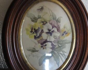 Vintage Framed R. W. S.  Paris Watercolour