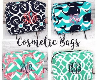 Ladies makeup bags  , monogrammed makeup bag , bridesmaid makeup bag , personalized makeup bag 613