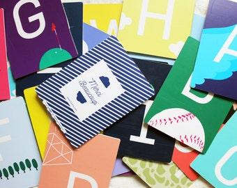 Alphabet card / Imagination / Graphic Design