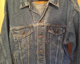 Vintage Levi Strauss Red Tab Trucker Jacket 70507-4890 Men's Large