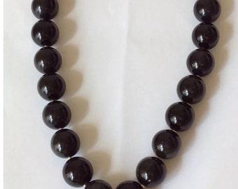 "California Rainbow Obsidian 18mm Wire Necklace 21.5""w/ Buddha Pendant 925/SS"