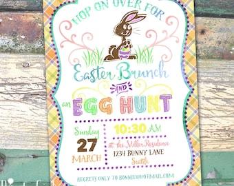 Easter Brunch and Egg Hunt  Printable Invitation