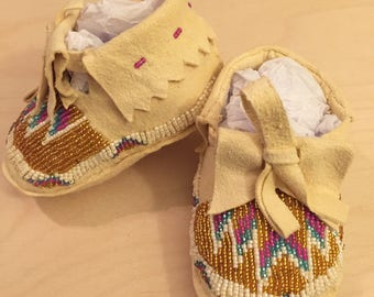 Custom Beaded Baby Moccasins