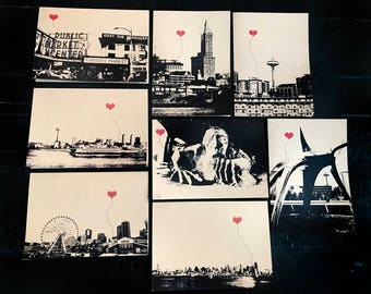 Seattle Washington Lover's Boxed Note Card Set