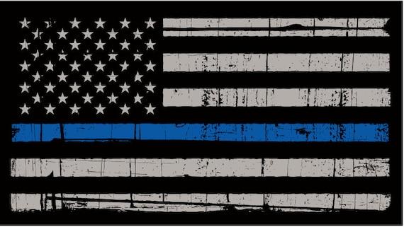 Thin blue line flag police blue line flag gadstone police
