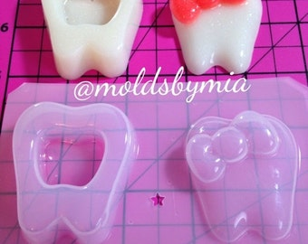 ON SALE Kawaii Tooth Fairy trinket box  flexible plastic resin mold