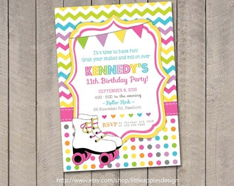 Roller skate birthday invitation rainbow invitation roller roller skate invite roller skate party invitation roller skate birthday invitation roller skate filmwisefo Gallery