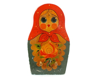 Russian Doll Key Rack Wooden Peg Rack Kitchen Towel Holder Dish Towel Holder Matryoshka