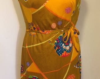 Sale! 50% reduced! Beautiful original vintage dress from the 70s! 100% cotton