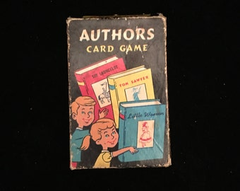 AUTHORS Card Game Made By E. E. Fairchild Corp., Rochester, New York