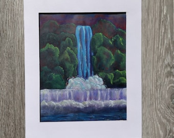 Waterfall Acrylic Painting 03