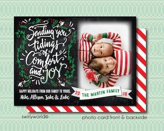 Retro Christmas Photo Cards, Retro Holiday Photo Cards, Unique Christmas Photo Cards, Holiday Photo Collages, Christmas Photocards HOL601