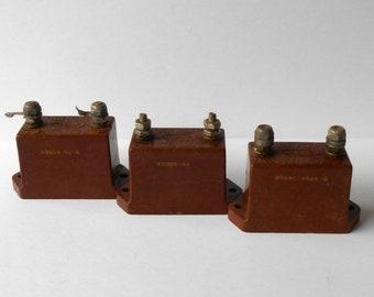 Mica transmission condensateurs 0,002 0,001 62,5 pF UF, 5000V 6000, 4 2 amp Vintage