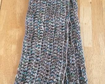 Blue, grey scarf