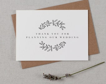 Thank you for Planning our Wedding - Card for Wedding Planner - Wedding Planner Card, Wedding Thank You Cards, Wedding Organizer Card, K9