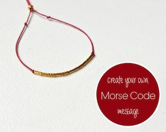 CUSTOM WORD Morse Code Bracelet