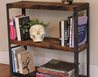 Welded Steel Bookshelf Made with Sustainably Reclaimed Wood * FREE SHIPPING