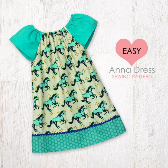 VERY EASY baby sewing pattern pdf baby dress pattern baby