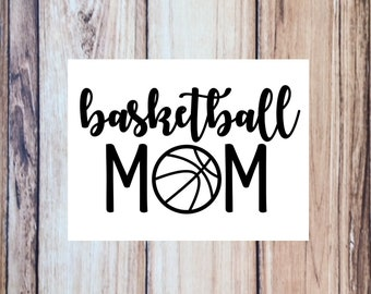 Basketball Mom Vinyl Decal, Cup decal, Tumbler, Water Bottle, Car Decal, 35 colors to choose from