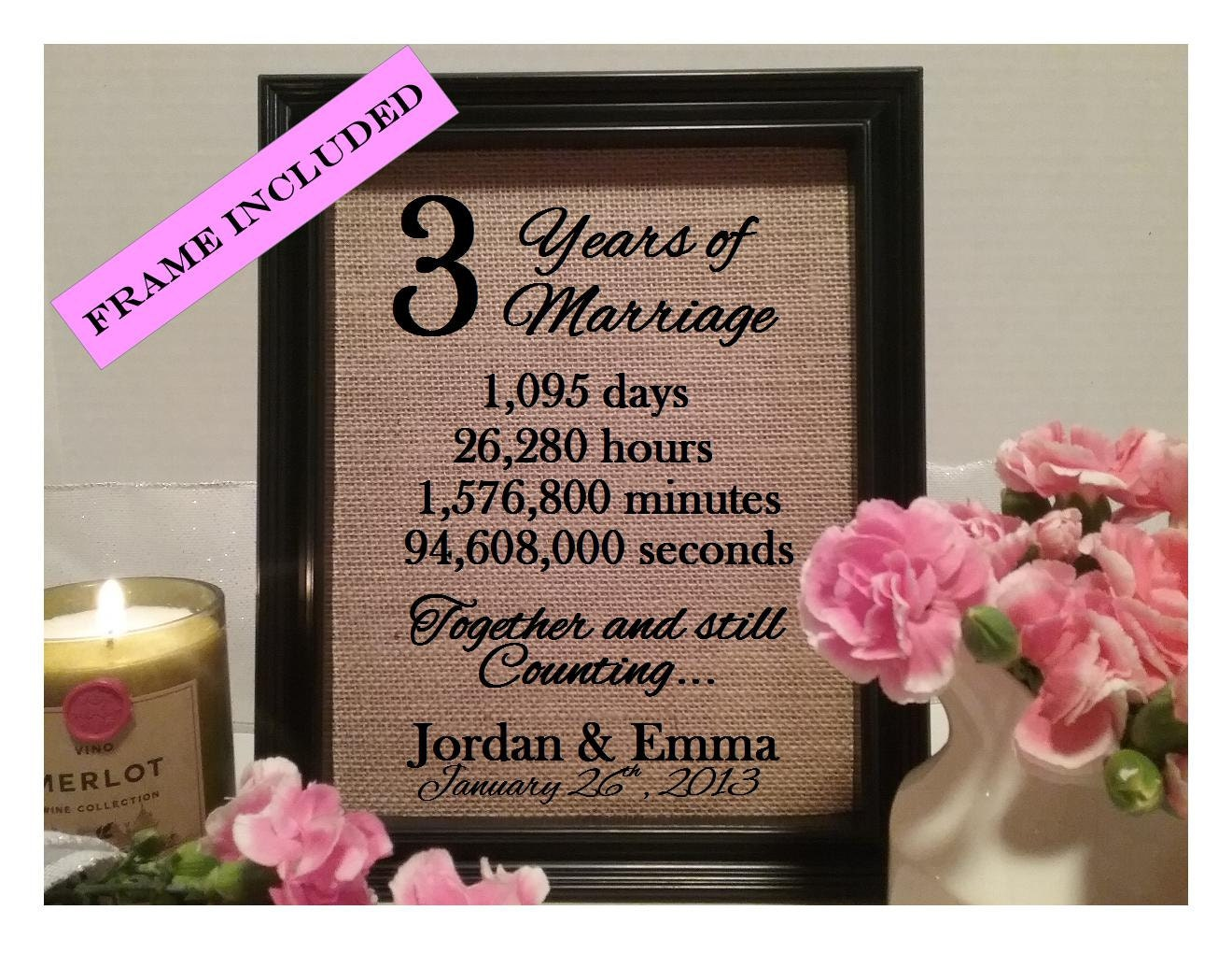 3 year wedding anniversary gifts ideas