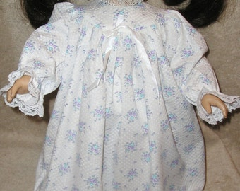 """18"""" DOLL Clothes Fit American Girl™ Doll & More AG Doll GOWN Long Blue Floral Cotton Gift Idea Clothes Under 10 Free Shipping Offer"""