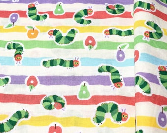 Kokka The Very Hungry Caterpillar Cotton Fabric_Japan