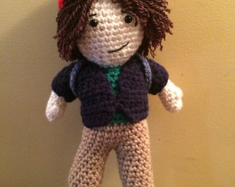 Made to order Dustin Stranger Things Inspired Amigurumi doll